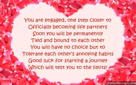 Funny Engagement Card Poems: Congratulations for