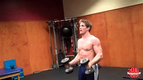How To: Dumbbell Hammer Curl into a Front Press - YouTube