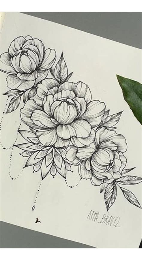 Flower Tattoo Drawing at GetDrawings | Free download