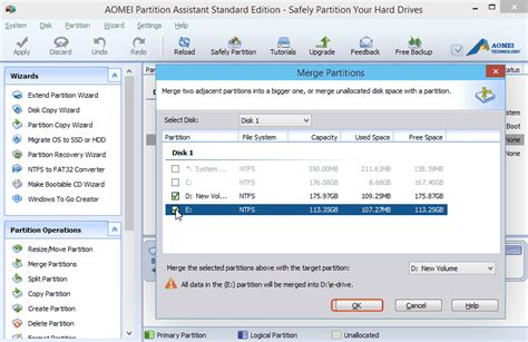 Merge Two Partitions into One for Windows 10 with Free
