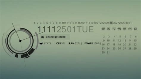 Best date, time and calendar Rainmeter skins / themes