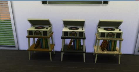 Mod The Sims: Vinyl Stereo Record Player by AdonisPluto