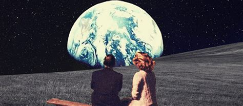 Digital collage art: Nostalgic postcards from the future
