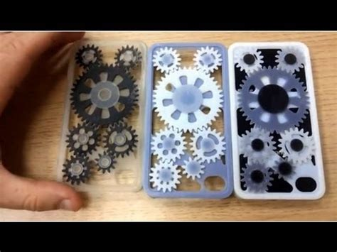 3D Printed iPhone Case with Moving Gears! - YouTube