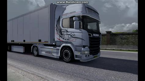 Scania White Edition in ETS2 (Euro Truck Simulator 2