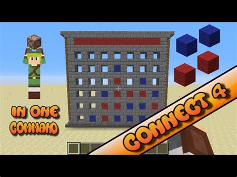 Minecraft - Connect 4 in One Command! - YouTube