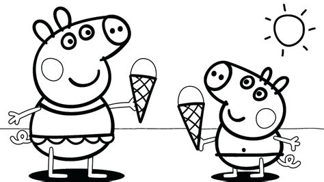"""Clown coloring on Twitter: """"peppa pig eat ice cream 🍨🍦 in"""
