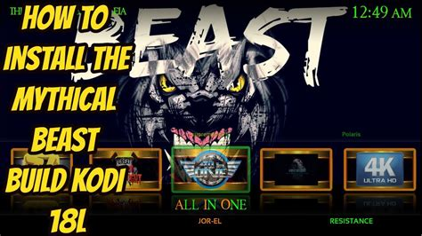 HOW TO INSTALL🔥 THE MYTHICAL BEAST BUILD🔥 KODI BUILDS 18L