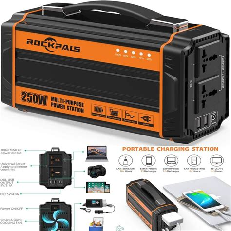 250W Portable Power Generator Rechargeable Lithium Battery