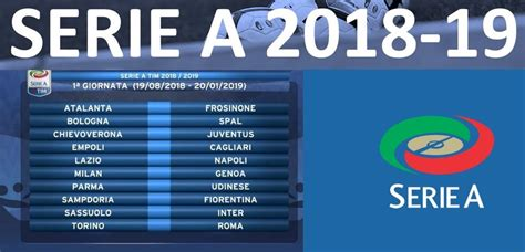 Serie A fixtures table result 2018/19 teams, date, time
