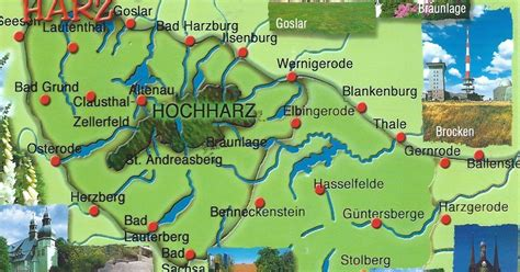 MY POSTCARD-PAGE: GERMANY ~ Map - National Park Harz